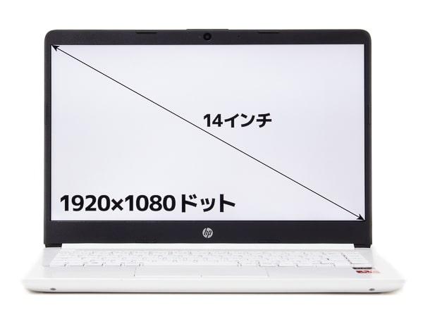 HP 14s-dk0000 画面サイズ