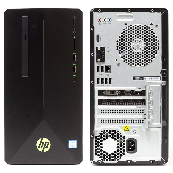 HP Pavilion Gaming Desktop 690 前面と背面
