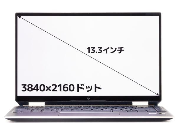 HP Spectre x360 13 2019年モデル 画面サイズ