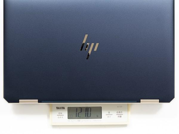HP Spectre x360 13 2019年モデル 重さ