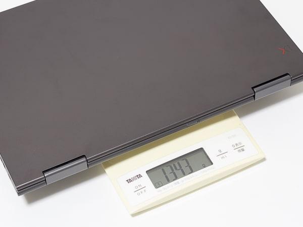 ThinkPad X1 Yoga 2019年モデル 重量