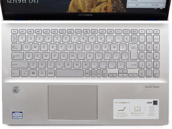 VivoBook S15 キーボード