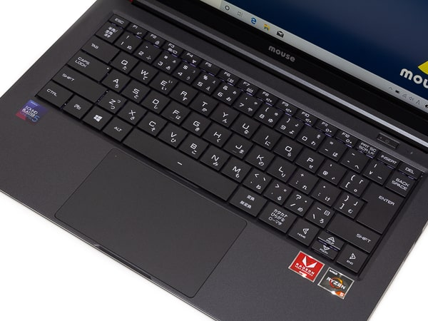 m-Book X400B キーボード面