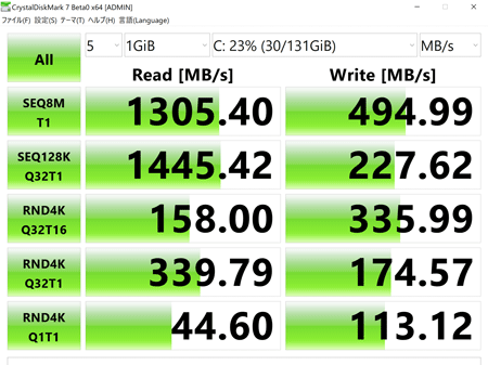 OneMix3 Pro アクセス速度