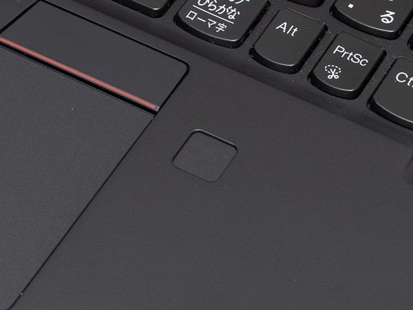 ThinkPad X1 Carbon 2019年モデル 指紋センサー