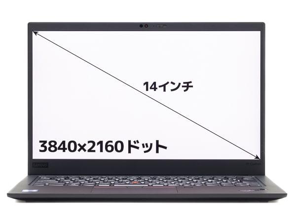 ThinkPad X1 Carbon 2019年モデル 画面サイズ