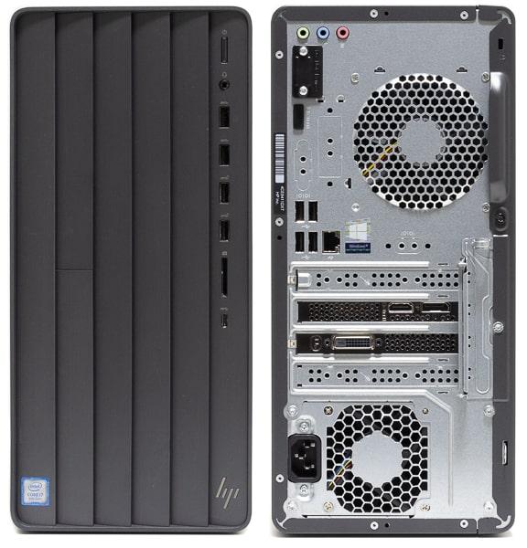 HP ENVY Desktop TE01 前面と背面