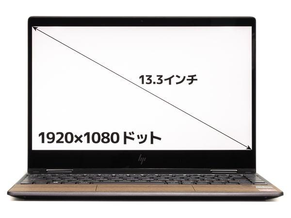 HP ENVY x360 13 Wood Edition 画面サイズ