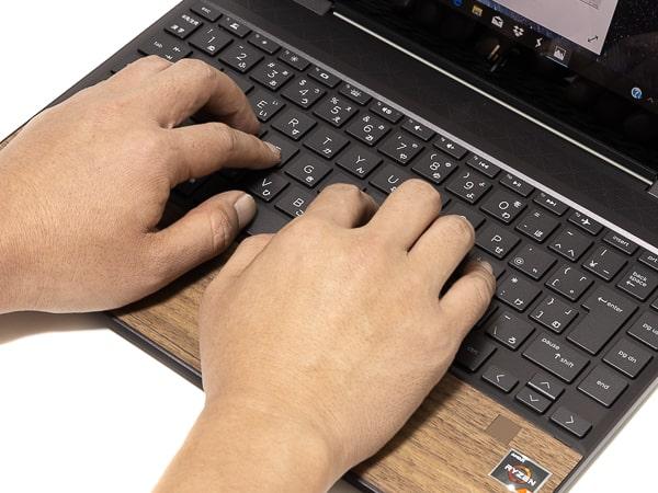 HP ENVY x360 13 Wood Edition タイプ感