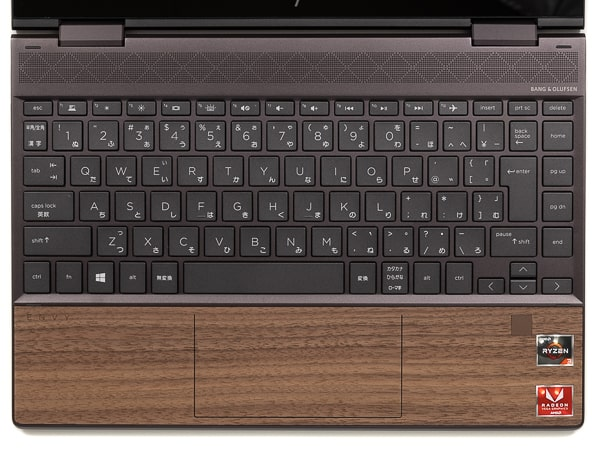 HP ENVY x360 13 Wood Edition キーボード