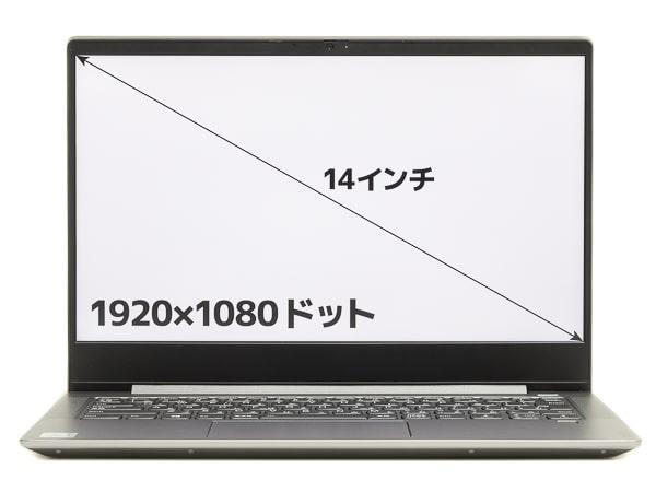 IdeaPad S540 (14) 画面サイズ