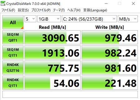 IdeaPad S540 (14) アクセス速度
