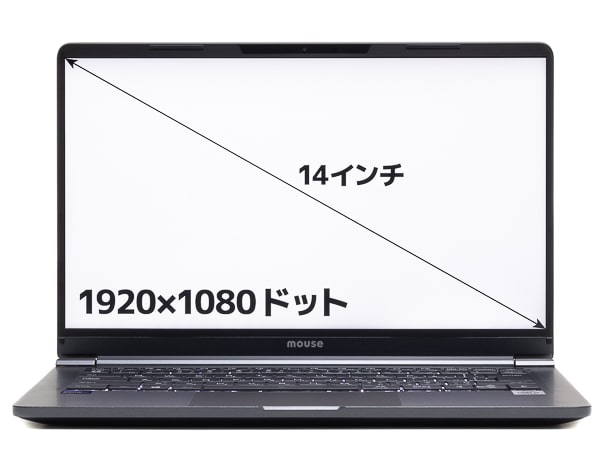 mouse X4-i7 画面サイズ