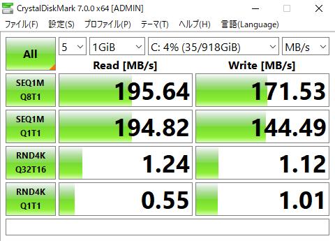 Vostro 3000 (3471) アクセス速度