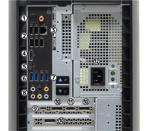 Alienware Aurora R9 I/Oパネル