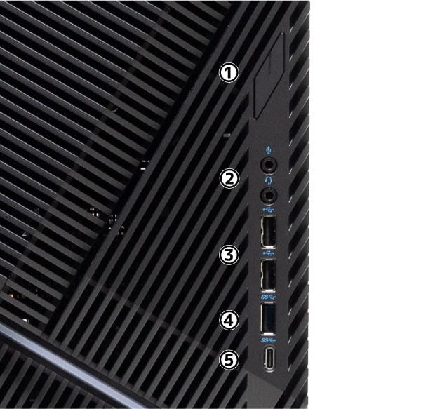 Dell G5 ゲーミング デスクトップ 前面