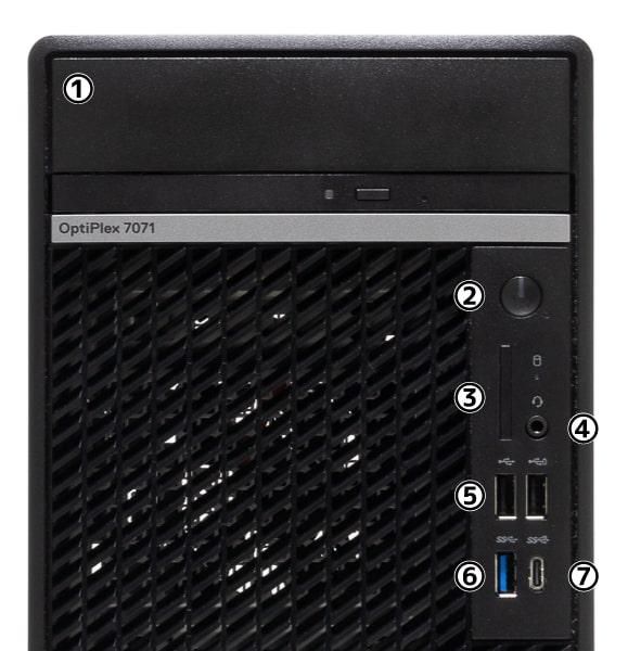 OptiPlex 7071 デスクトップ 前面