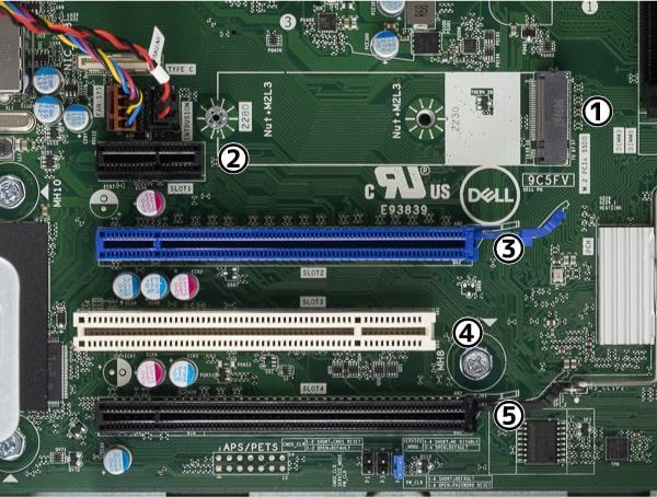 OptiPlex 7071 デスクトップ 拡張スロット