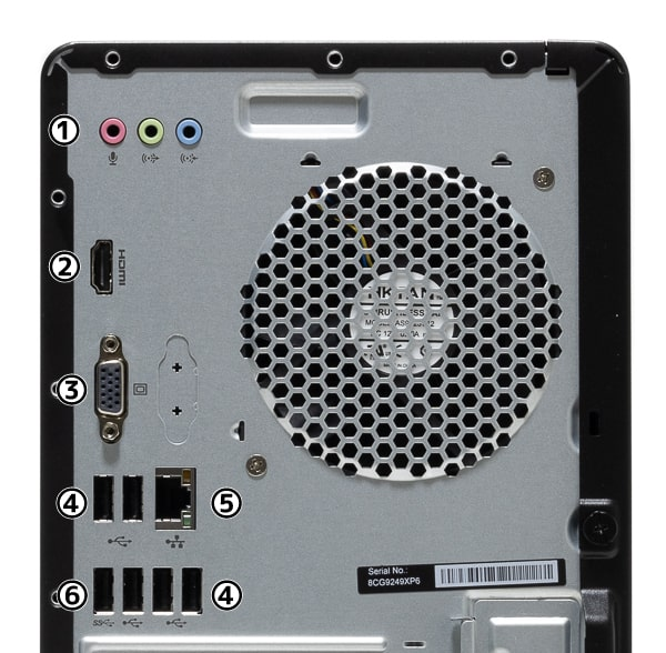 HP Pavilion Desktop 590 背面