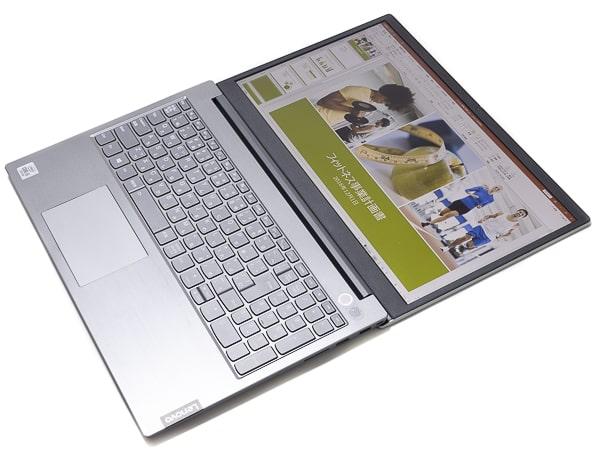 ThinkBook 15 ディスプレイ角度