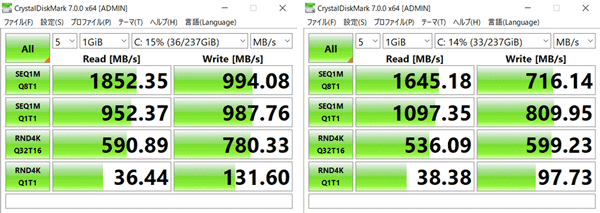 IdeaPad S145 (15)とIdeaPad S145 (15,AMD) ストレージ