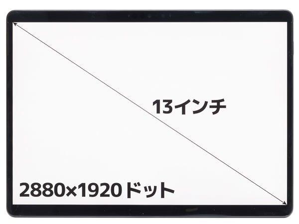 Surface Pro X 画面サイズ