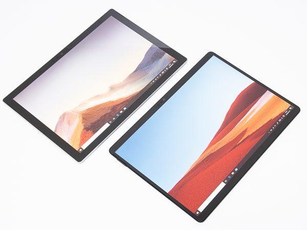 Surface Pro X Surface Pro 7 サイズ比較