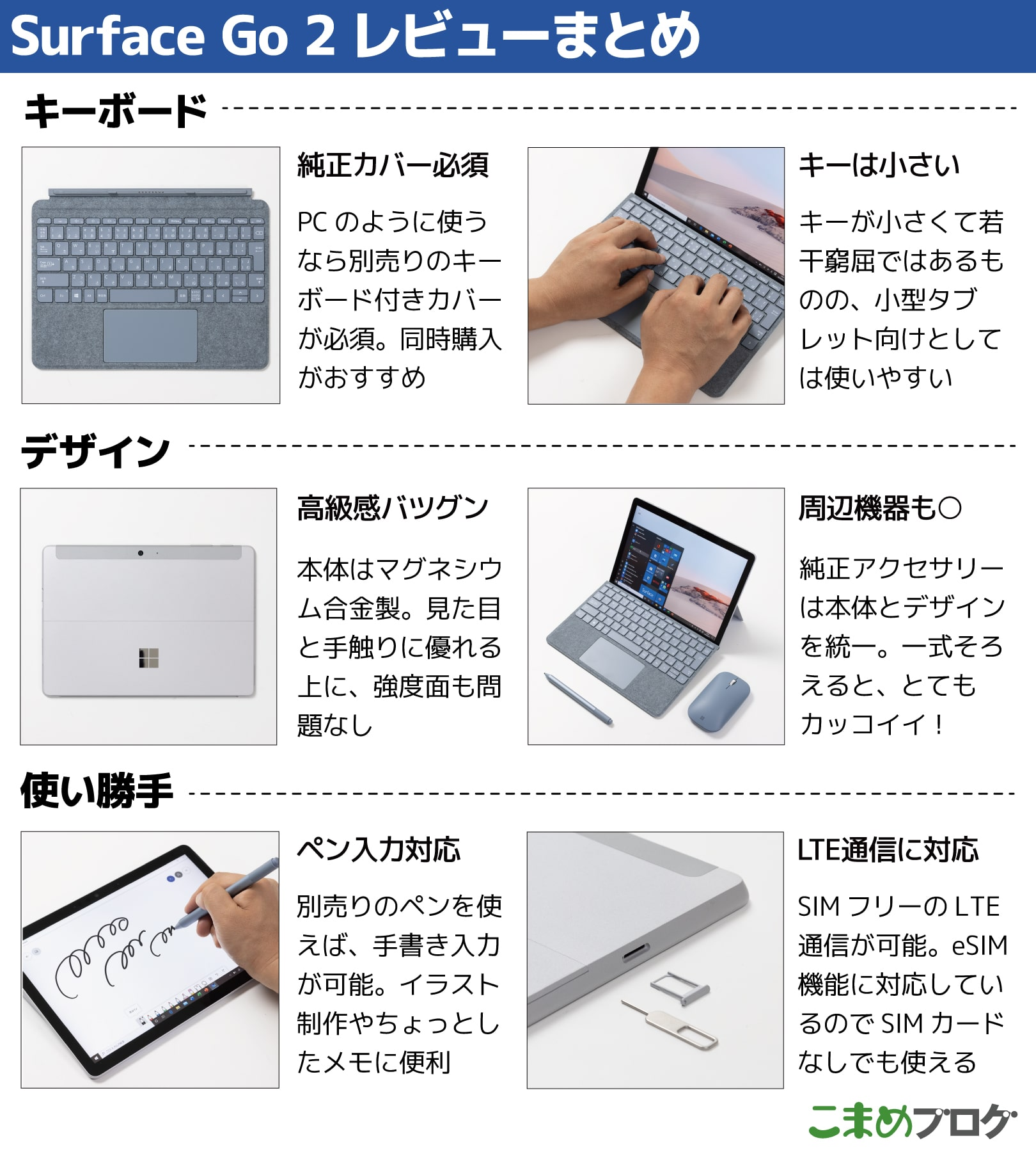 Surface Go 2 まとめ