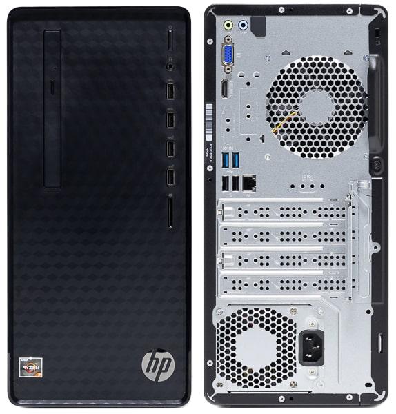 HP Desktop M01 前面と背面