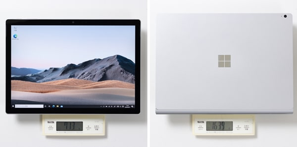 Surface Book 3 重さ