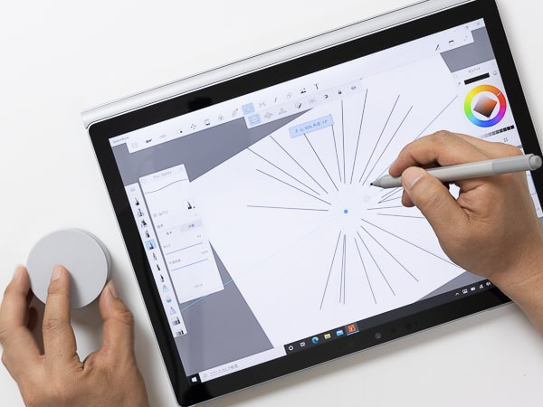 Surface Book 3 ペンとダイアル