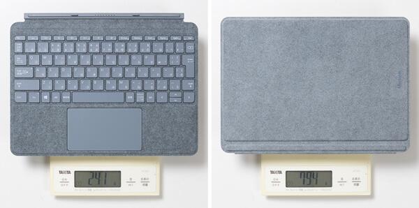 Surface Go 2 タイプカバー 重さ