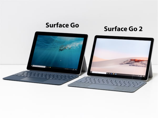 Surface Go 2 比較 デザイン