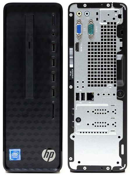 HP Slim Desktop S01 前面と背面