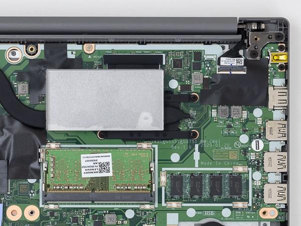 IdeaPad Slim 350 14 メモリースロット