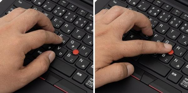 ThinkPad E14 Gen2 (AMD) トラックポイント