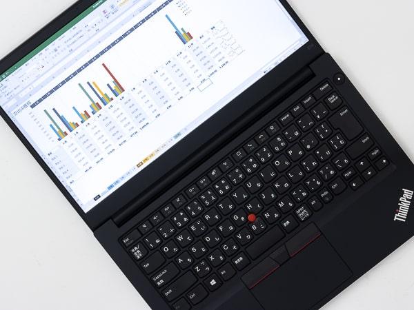 ThinkPad E14 Gen2 (AMD) ディスプレイ角度