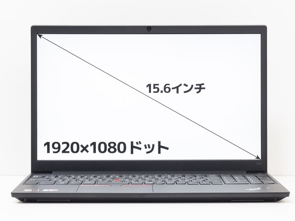 ThinkPad E15 Gen2 (AMD) 画面サイズ