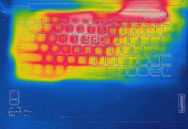 IdeaPad Slim 550 (14) 発熱