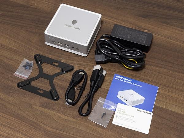 MINISFORUM DeskMini UM300 同梱物