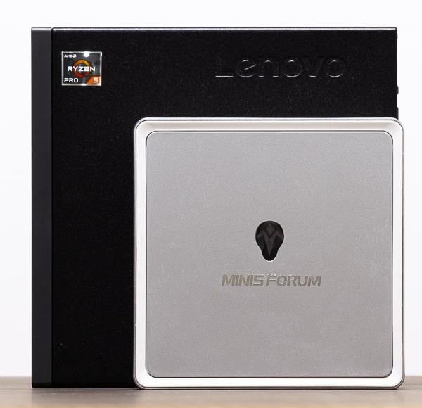 MINISFORUM DeskMini UM300 サイズ比較