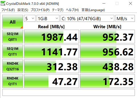 ASUS ZenBook 14 UM425IA ストレージ