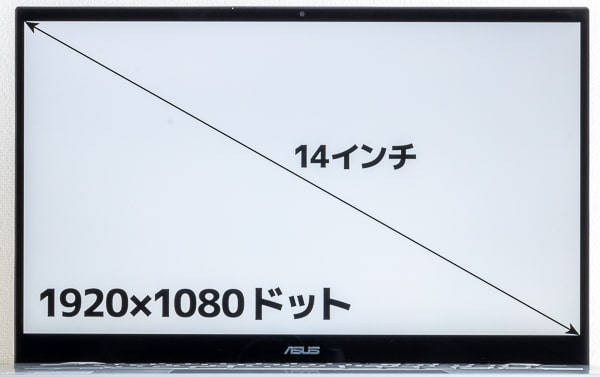 ASUS Chromebook Flip C436FA 画面サイズ