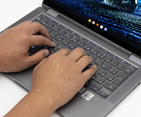 HP Chromebook x360 14c タイプ音
