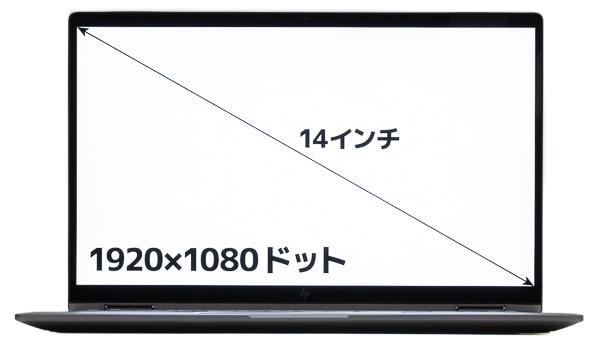 HP Chromebook x360 14c 画面サイズ