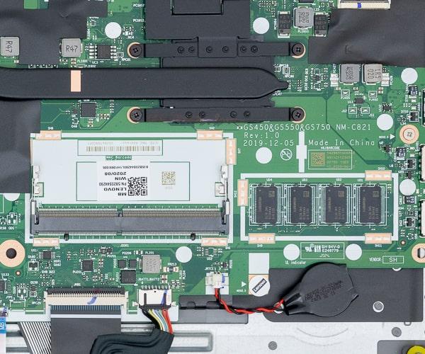IdeaPad Slim 350 17 メモリースロット