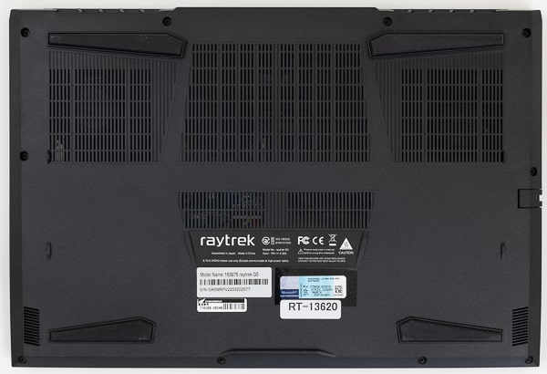raytrek G5 底面部