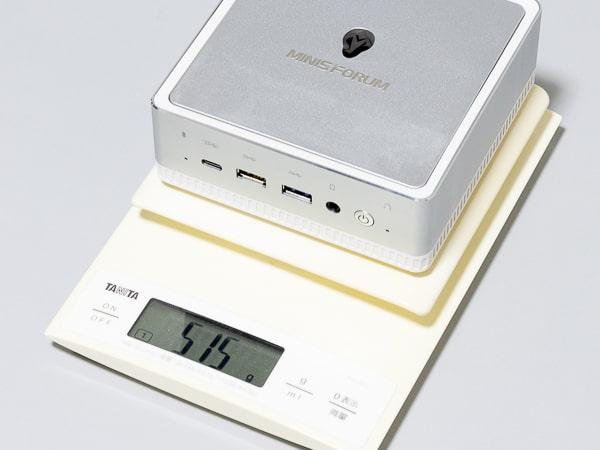 MINISFORUM DeskMini UM200 重さ