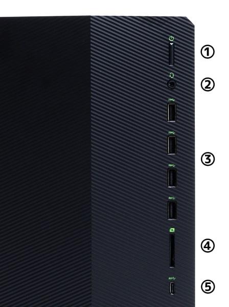 HP Pavilion Gaming Desktop TG01(インテル)前面