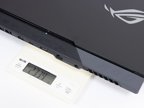 ROG Strix SCAR 15 G533QS 重さ